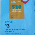 Optus $10 Prepaid Sim Starter Kit for $3 @ Australia Post