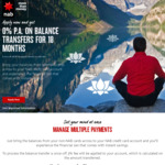 Balance Transfer 0% for 18 Months (3% BT Fee) for Existing Credit Cards @ NAB