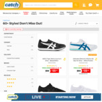 Extra 40% off ASICS Tiger, Onitsuka Tiger Shoes (60+ Styles, Prices Already Reduced, Only for 3 Hours) @ Catch