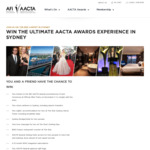Win a Trip to the 8th AACTA Awards in Sydney for 2 Worth $7,450 from Australian Film Institute