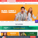 Cyber Weekend Cashback Upsizes on 100+ Stores: AliExpress 10%/UberEATS $5/Lenovo 14% (Exp), Cellarmasters 19% + More @ ShopBack