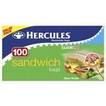 Hercules Click Zip Sandwich Bags 100 Pack $2.50 (Was $5) @ Coles