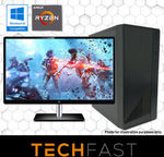 "Ryzen 3 2300X RX 570 4GB Gaming PC + 24"" Monitor & KB/M: $569.05 Delivered @ TechFast eBay"