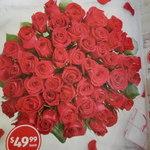 50 Stemmed Red Roses $49.99 @ ALDI