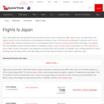 Sydney/ Melbourne/ Canberra/ Brisbane/ Adelaide to Japan (Osaka and Tokyo) from $739 @ Qantas