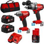 Milwaukee M18ONEPP2B-502B 18V 5.0Ah Li-Ion Cordless Fuel ONE-KEY 2pce Combo Kit $529 Shipped @ Sydney Tools