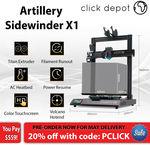 Artillery Sidewinder X1 3D Printer - Latest V3 $559.20 @ Clickdepot eBay
