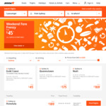 Jetstar Weekend Frenzy - O/W from Melbourne to Cairns $99, Sydney to Nadi $169, Gold Coast <> Sydney $45 and More (Dom & Intl)