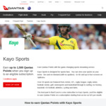 Earn Initial 1500 + Monthly 150 Qantas Points When Subscribing to Kayo Sports