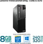 [Refurb] Lenovo ThinkCentre M93p SFF Core i5-4570 8GB 240GB SSD + 320 GB HDD Windows 10 Pro $295.84 Delivered @ Bufferstock eBay