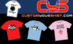 $15 for a Custom Designed T-Shirt Available in White Only Includes Free Delivery. Normally $48