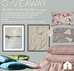 Win a Linen/Cushion/Artwork Prize Pack Worth Over $2,000 from Australian Interiors