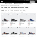 50% off Outlet Items (Ultraboost 19 $130 Delivered) @ adidas