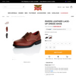 Men's Leather Lace-up Shoes $30 (Was $100) Brown or Black @ Rivers (Free C&C or Spend $80 Shipped) Size Fr 6 to 12