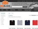 25% off Big Mens 100% Cotton T-Shirts XL-5XL. $9.95 Shipping. BigBlokeBasics.com.au