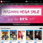 Madman Top Sellers - up to 80% off Anime, Merch & More ($7 Shipping or Free for Orders over $75)