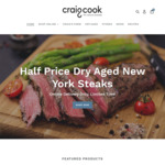 [NSW] 1/2 Price Dry Aged New York Steak 300g $8.75ea + Delivery (Sydney, Free over $95 Spend) @ Craig Cook The Natural Butcher