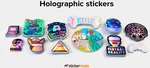 """Custom 3"""" X 3"""" (76mm X 76mm) Holographic Stickers 50 for AU $26.80 (Was $109) Delivered @ Stickermule"""
