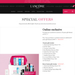 Purchase Any 2 Products to Receive a 10-Piece Gift @ Lancome Cosmetics