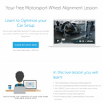 Free Introduction to Motorsport Wheel Alignment Webinar @ racecraft