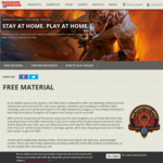 Free Official Table Top RPG D&D Materials @ Wizards.com
