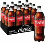 12x Coca-Cola No Sugar 1.25L $18 + Delivery ($0 with Prime/ $39 Spend) @ Amazon AU