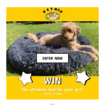 Win 1 of 3 Pet Relaxation Beds Worth $160 from Petnap
