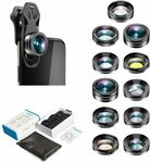 Apexel 11 in 1 Phone Camera Lens Kit $26.95 (20% off) + Delivery ($0 with Prime/ $39 Spend) @ Aipai Optic via Amazon AU