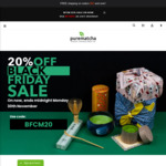 20% off BFCM Sitewide Sale (Free Shipping over $50) @ Purematcha