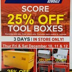 [WA] 25% off All Tool Boxes @ Total Tools (Kewdale)