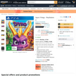 [PS4] Spyro Reignited Trilogy $24 + Delivery ($0 with Prime/ $39 Spend) @ Amazon AU