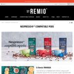 St Remio Strong, Intense or Supreme Nespresso Compatible Capsules - 100 Capsule $39 + Delivery ($0 with $60 Spend) @ St Remio