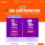 1 Year Prepaid Mobile Plan 120GB Data $200, Free SIM Delivery @ amaysim