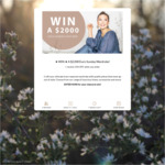 Win a $2,000 Voucher from Eva's Sunday