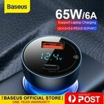 [eBay Plus] Baseus 65W Car Charger PD QC4.0 Fast Charge USB Type C $17.99 (was $24.99) Delivered @ baseus_official_au eBay