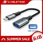 CABLETIME USB-C OTG to USB 3.0 Adapter US$1.42 (~A$1.85) Delivered @ Cabletime Official Store