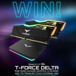 Win a TeamGroup T-Force Delta 32GB Memory Kit & 1TB SSD Prize Pack from PC Case Gear