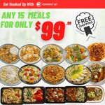 [NSW, VIC QLD] 15 Pre Made Meals for $99.99 Delivered @ Cooked up