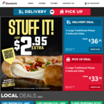 3 Large Traditional, Vegetarian Plant-Based or Value Range Pizzas and 3 Selected Sides $35.95 Delivered @ Domino's
