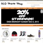 OCD Skate Shop 20% off Storewide Plus Free Delivery for Orders over $50.00
