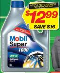 Autobarn Have Mobil Super 1000 20W-50 5 Litre Pack Motor Oil for $12.99 (Save $16.00)