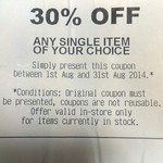 Koorong 30% off One Item Valid 1st-31st August. Valid in-Store Only. Requires Purchase