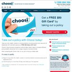 Get FREE $50 Gift Card When You Buy Policy From Choosi