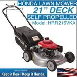 Honda Lawn Mower Self Propelled 21inch Deck Model: HRR216VKA $760 @ Freshway Supplies