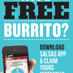 FREE Burrito, Salsa's Fresh Mex by Downloading Apps and Claim Instantly