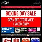 30% off Storewide at Sherrin - Game Balls $113 Delivered, Logo/Team Balls $134