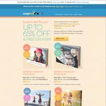 Snapfish Surprise Sale- 65% off Selected Products + FREE Delivery. Bonus 50 Free Prints
