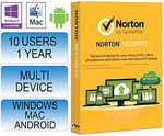 Norton Security 2.0 2015, 10 Device 1 Year with 25GB Backup. Extreme-Hardware eBay $60 Approx