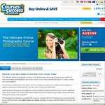 $69 Online Photography Course, Was $599 Save $530, 7 Days