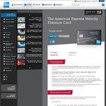 AmEx Velocity Platinum Card - $349 Annual Fee - 100,000 Velocity Points + Domestic Return Flight